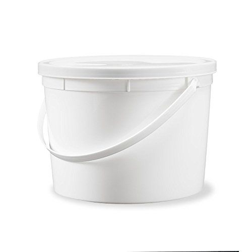1 Gallon Food Grade Round Bucket With Lid White 30 Pack Plastic Buckets Food Grade Buckets Food Grade