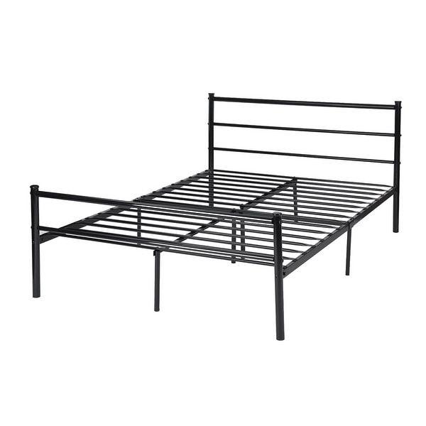 Vecelo Full-size Platform Bed Frame, Metal Mattress Foundation with ...