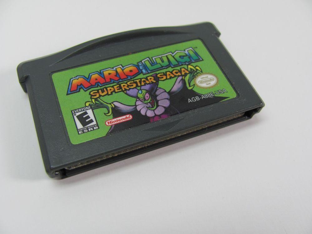 Mario Luigi Superstar Saga Nintendo Game Boy Advance 2003