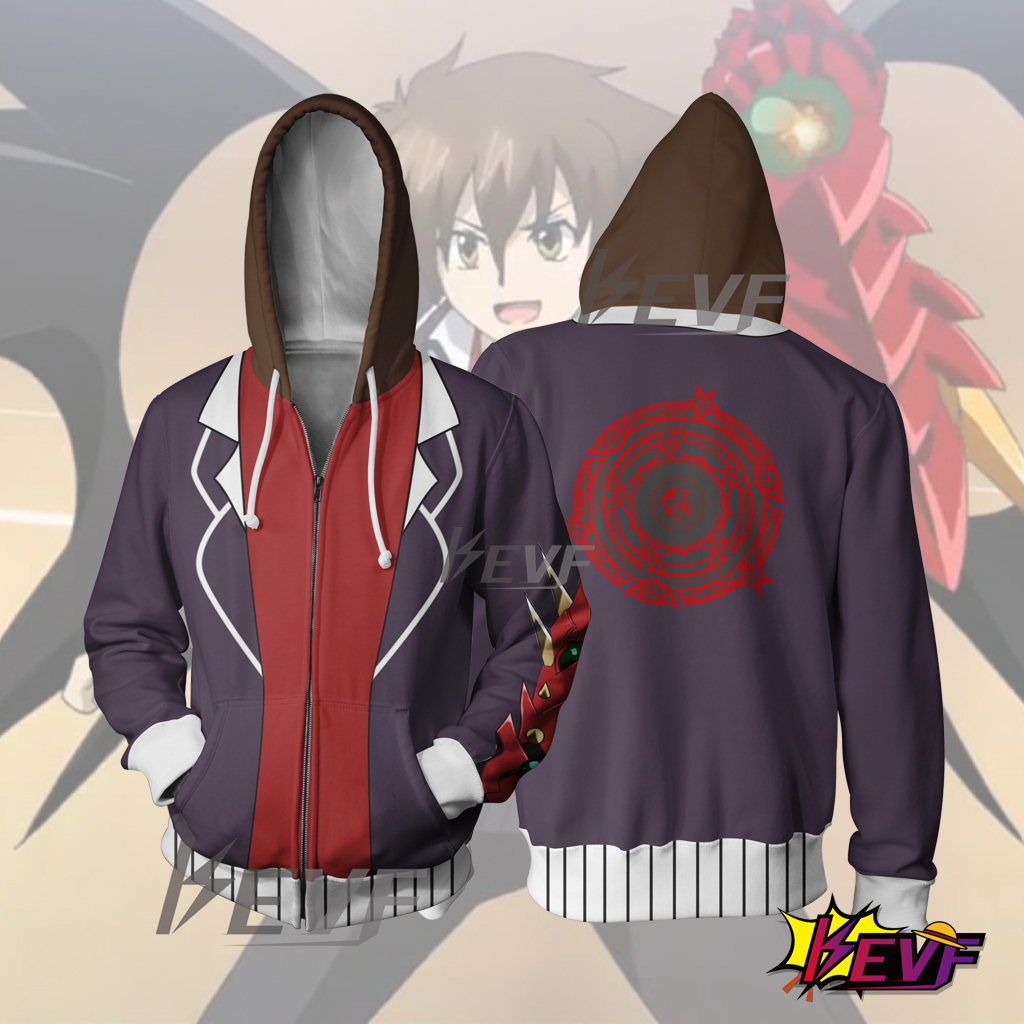High School DXD Cosplay Hoodie Issei Hyoudou Zip Up