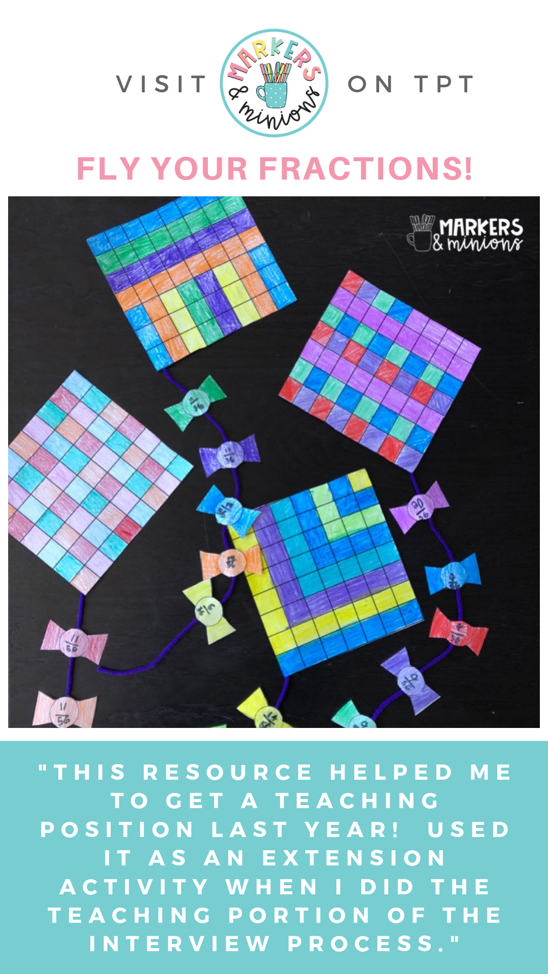Fly Your Fractions Fraction Kite