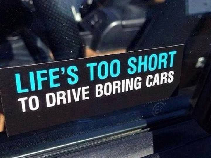 Magnaflow Cat Back Exhaust >> Life's too short to drive boring cars | Made you laugh | Jeep decals, Subaru, Racing quotes