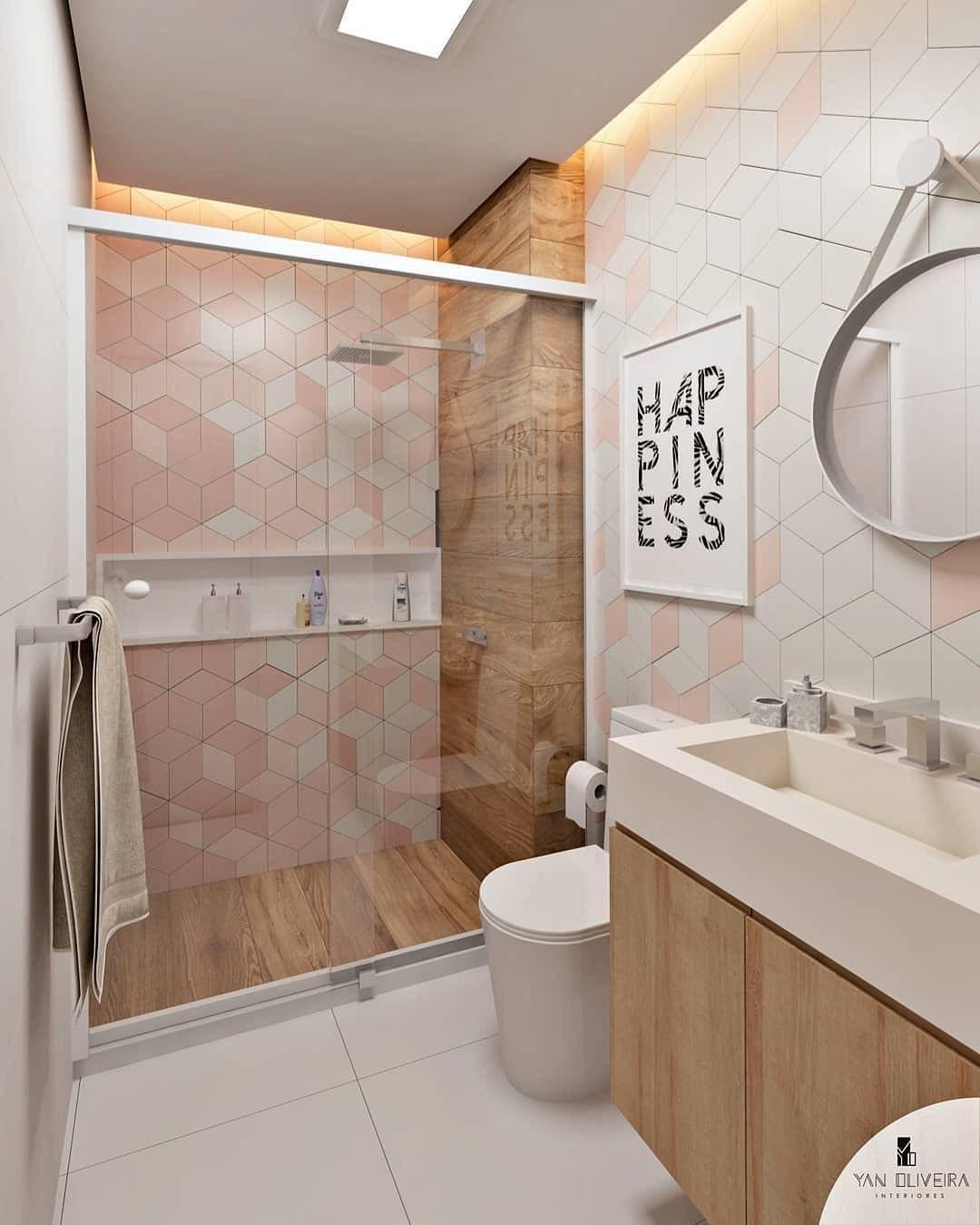 Banheiro Lindo Com Revestimento De Madeira No Box E O Joy Mz Na