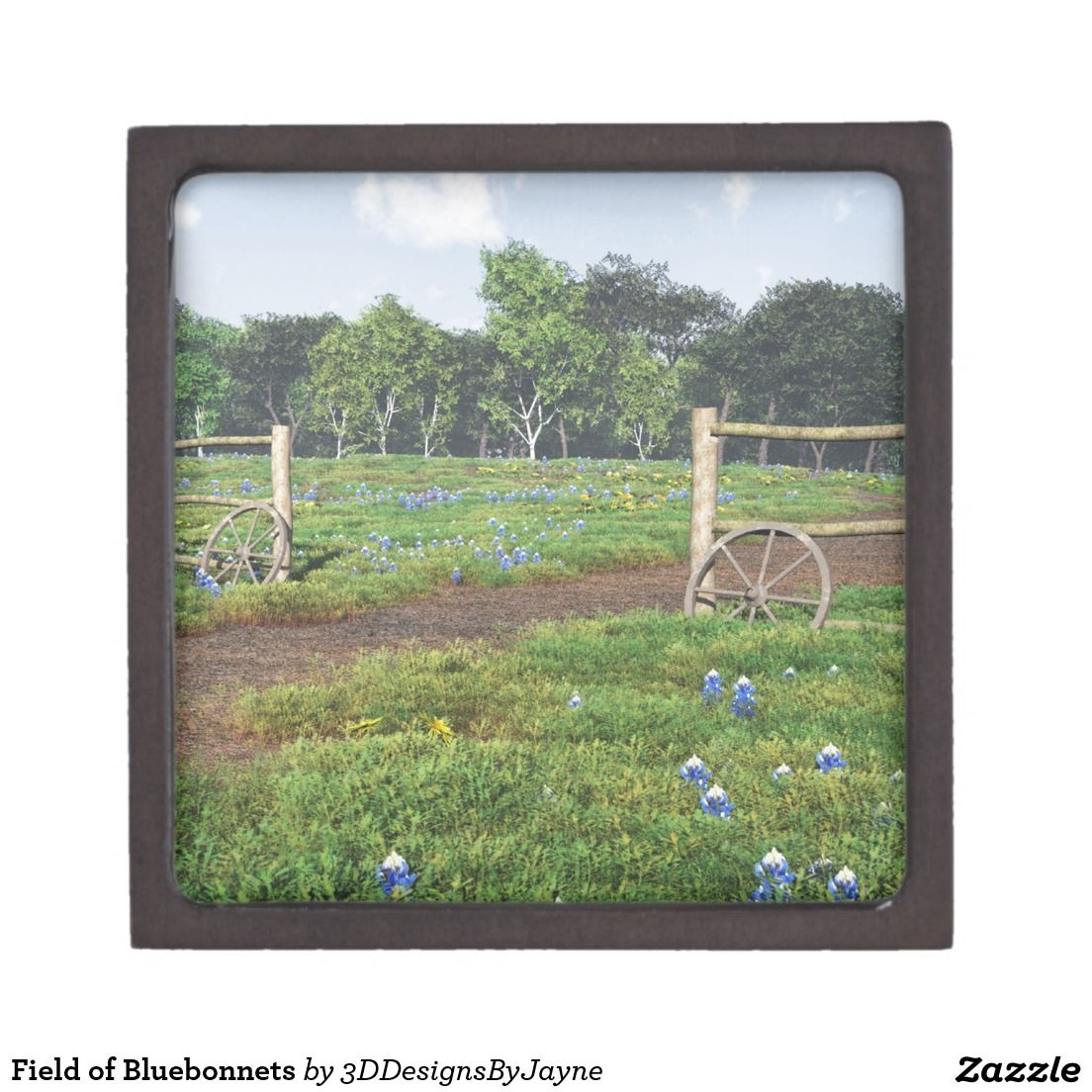 Field of Bluebonnets Keepsake Box