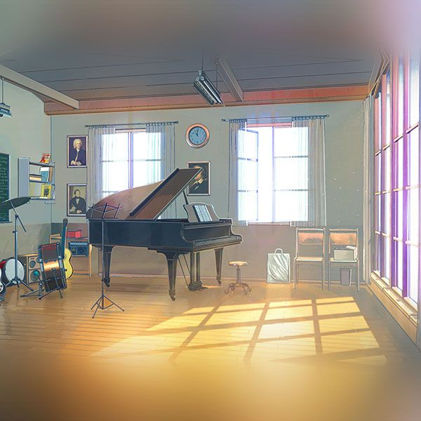Wallpaper Aw48 Arseniy Chebynkin Music Room Piano Illustration Art Paesaggi Anime Sfondi Luoghi