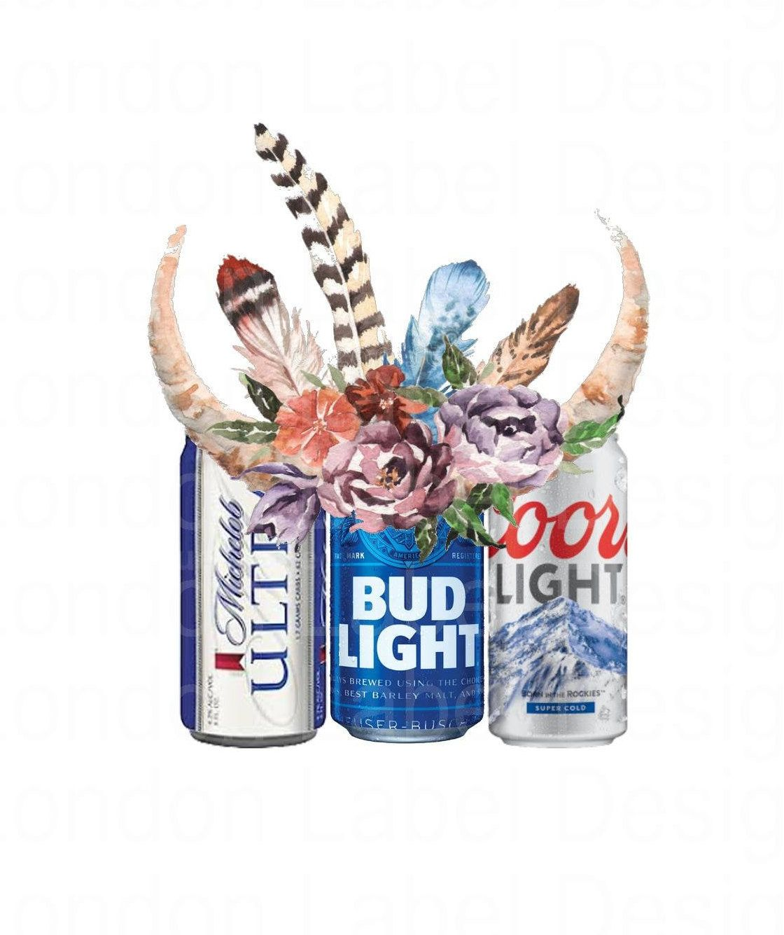 Alcohol Stickers Bud Light Can Bud Light Beer Painting
