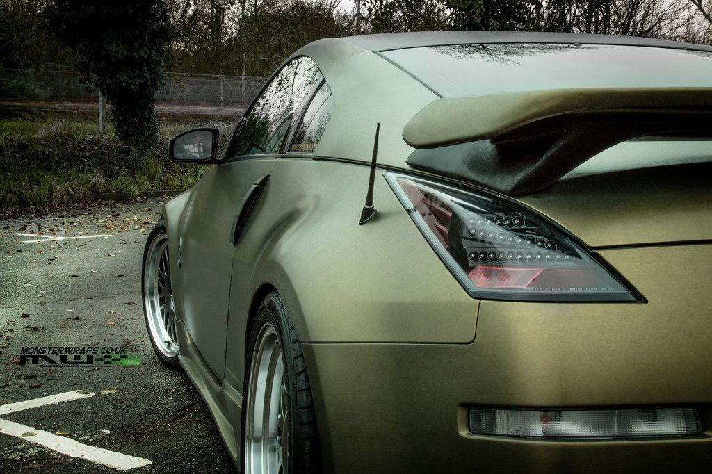 nissan 350z gold wrapping! Nissan 350z, Nissan, Nissan z