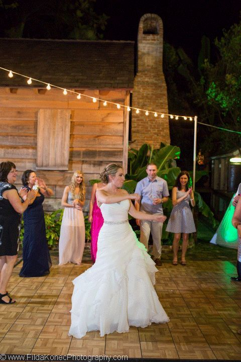 wedding gif moving picture bride living it up at her wedding