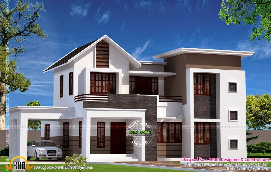 Modern House Plans In Sri Lanka With Ranch House Paint Color Schemes With House Exterior Paints F Modern House Plans Kerala House Design House Designs Exterior