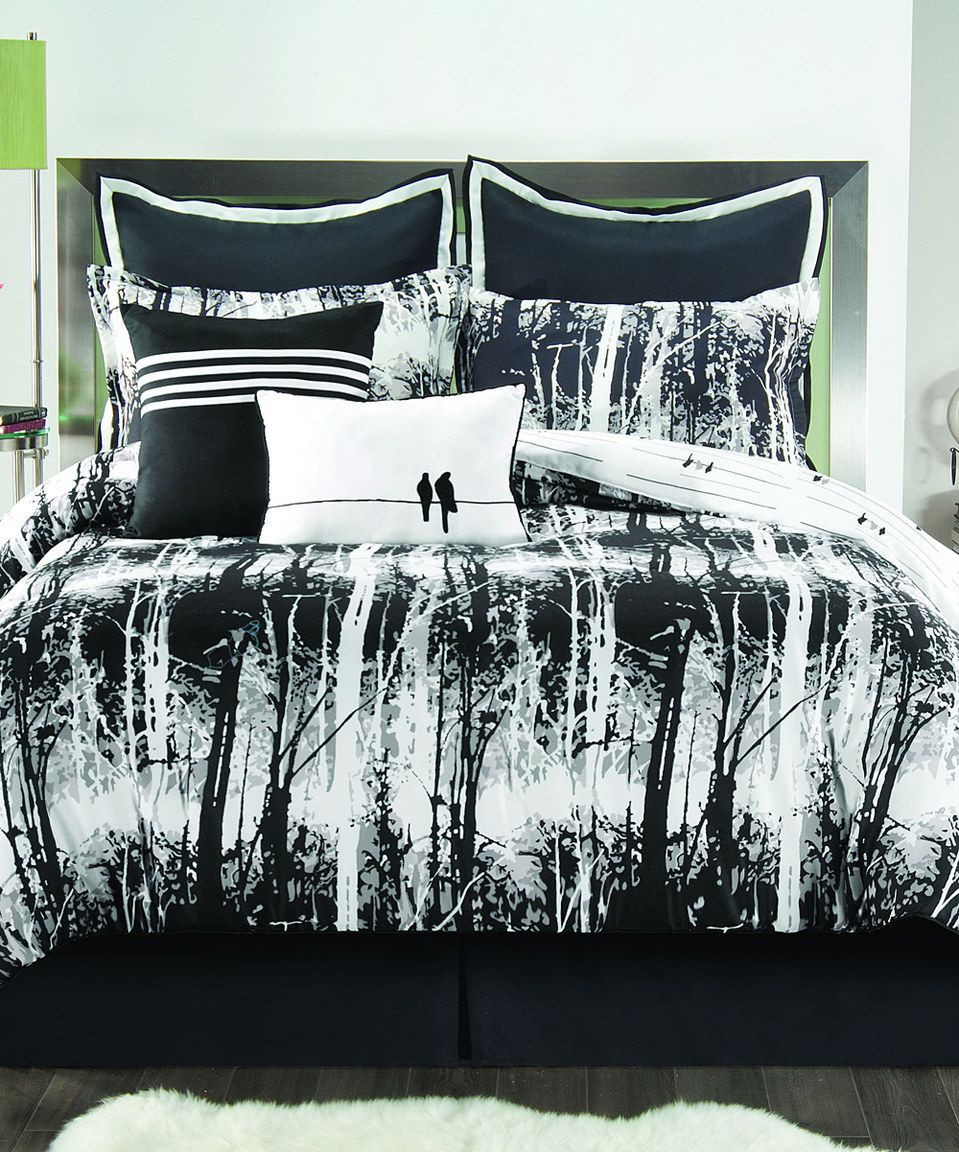 Love This Black White Woodland Comforter Set By Victoria