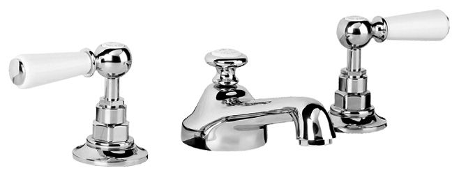 Neptune Bathroom Taps - Neptune Wl1220 Lefroy White Lever Tap With ...