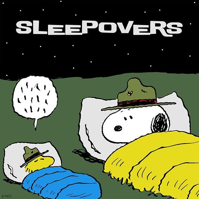 Saturday night sleepovers!
