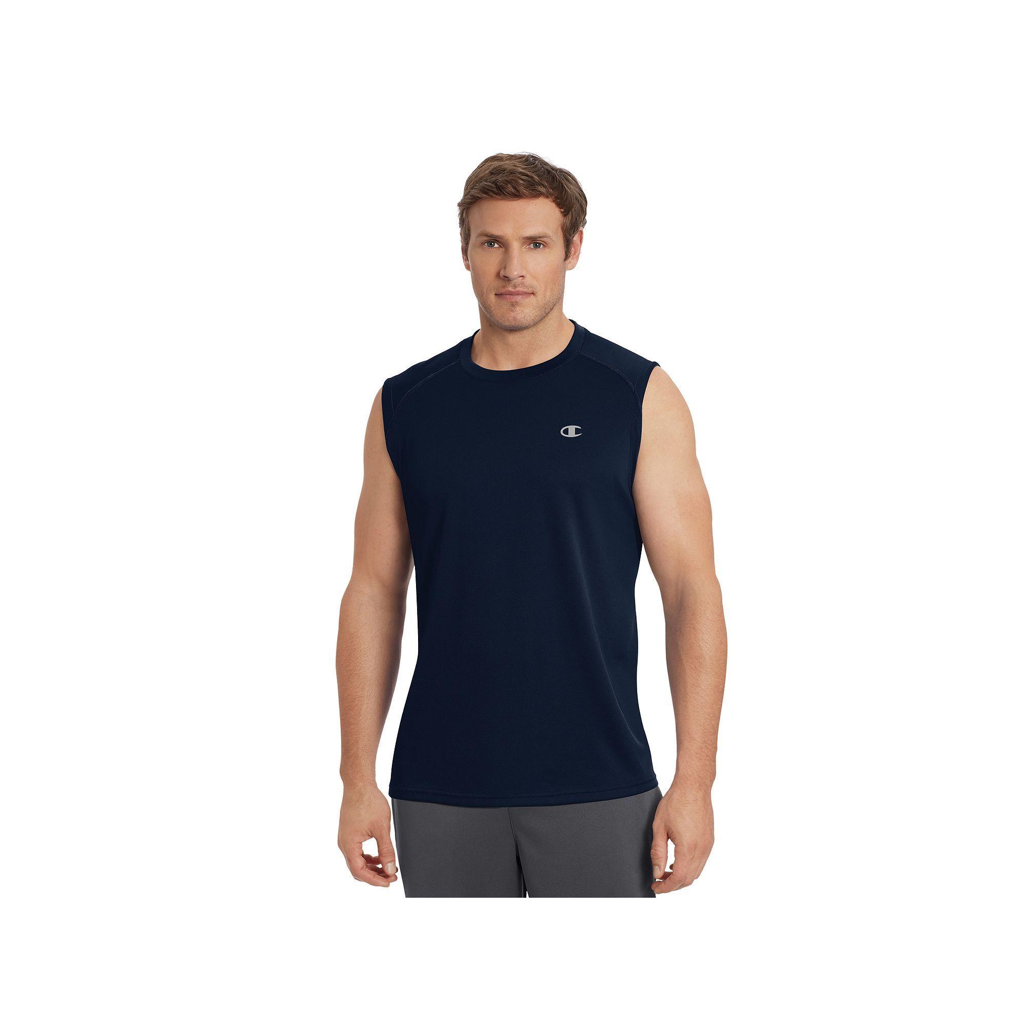 83d1cd32 Men's Champion Vapor Performance Muscle Tee, Size: Medium, Blue (Navy)