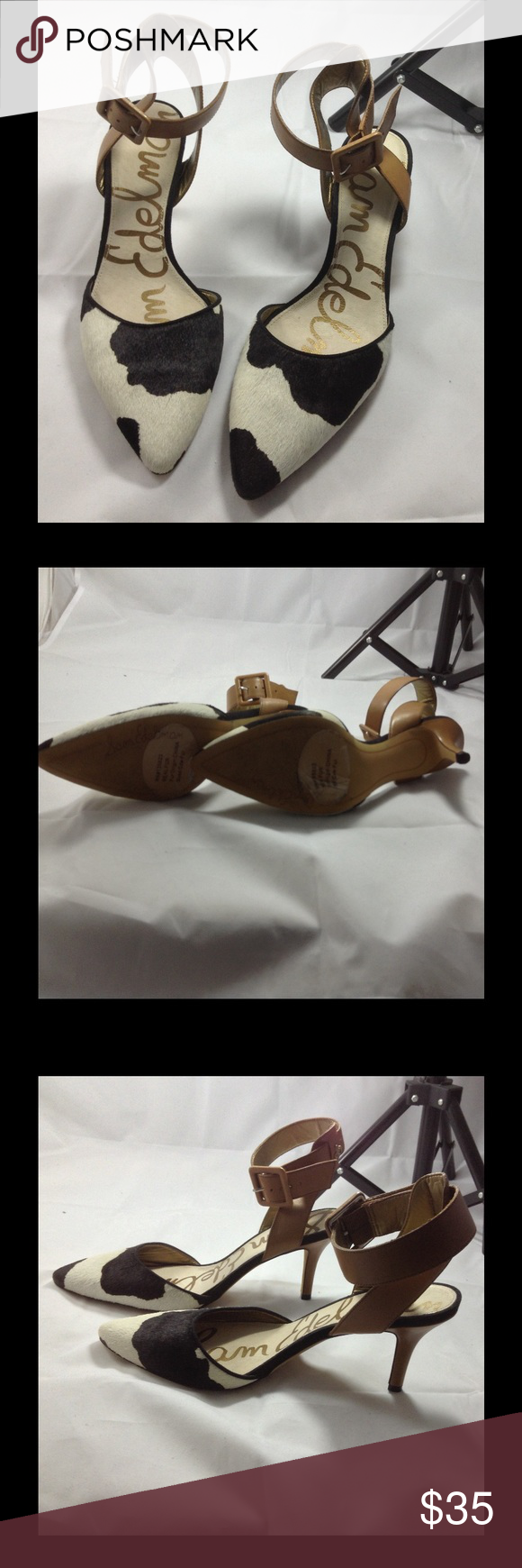 Sam Edelman heels Real cow fur, Sam Edelman, size 8, excellent condition. Sam Edelman Shoes Heels