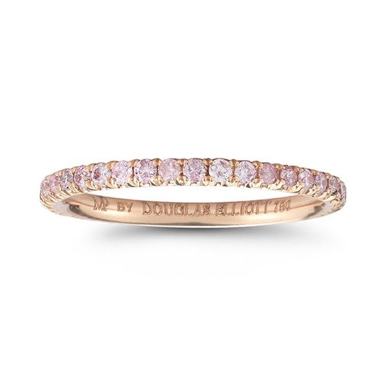 12d47b33e One Point Fancy Intense Pink Diamond Eternity Band 18k Rose Gold in ...