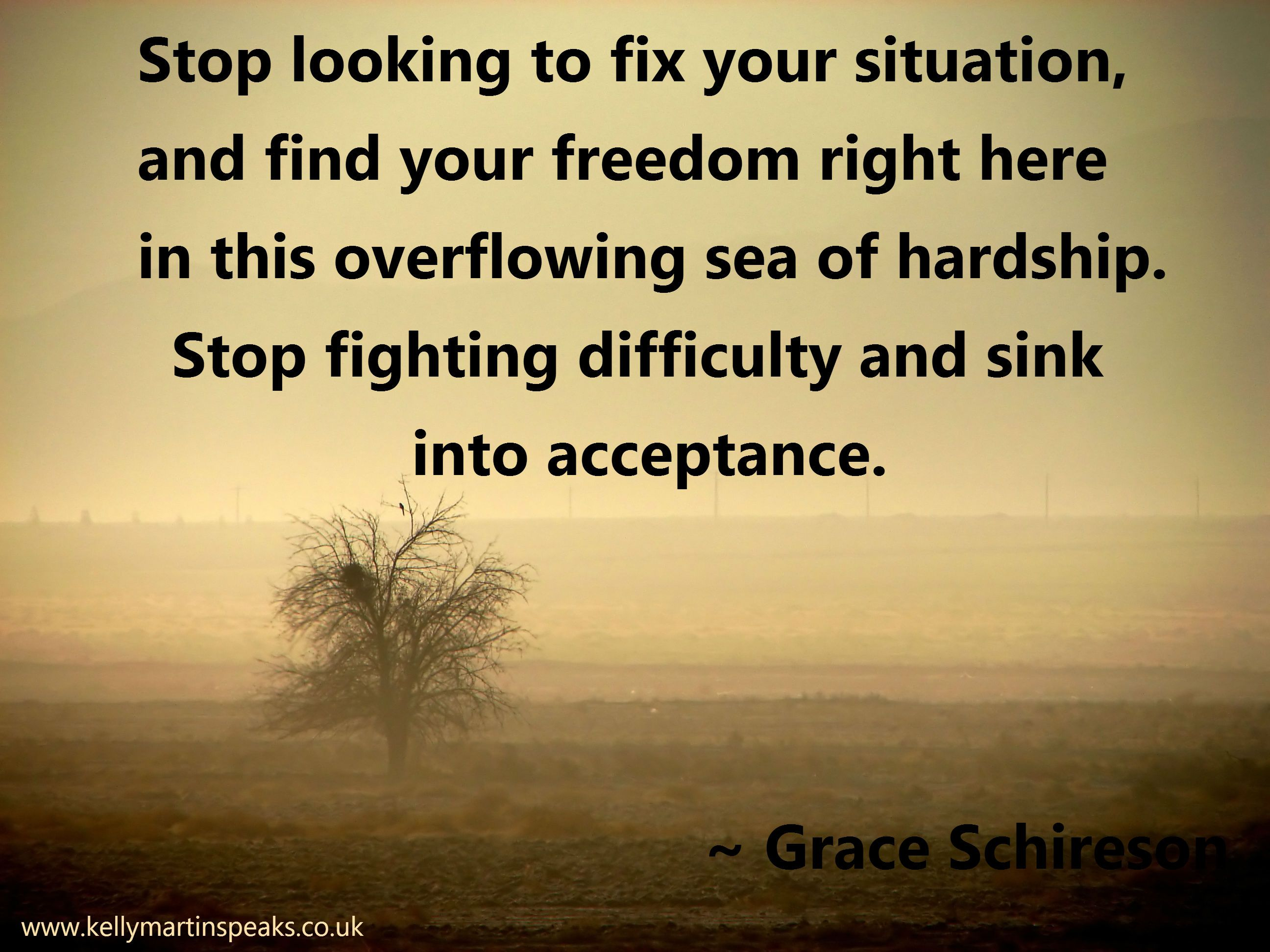 Stop Looking To Fix Your Situation, And Find Your Freedom Right Here In  This Overflowing