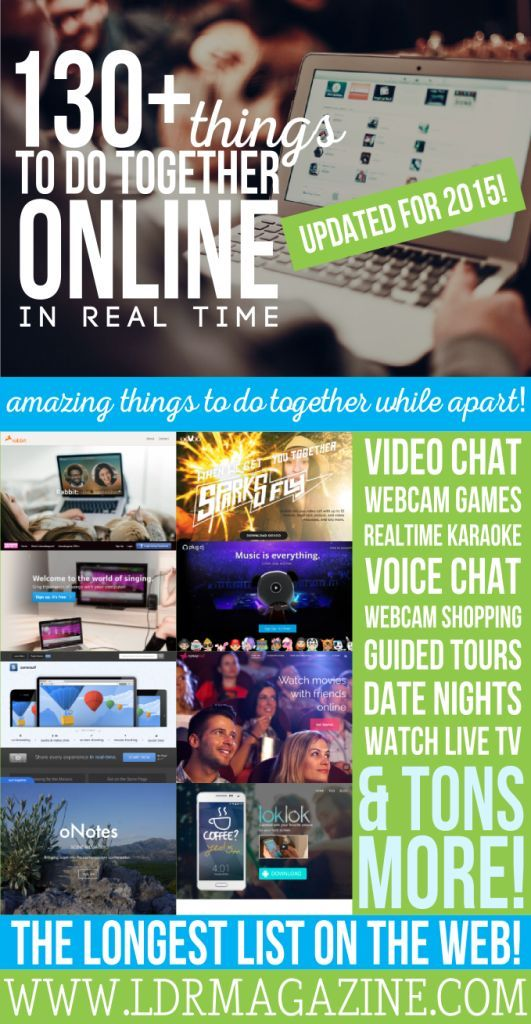 Over 130 Things to Do Together Online & in Real Time