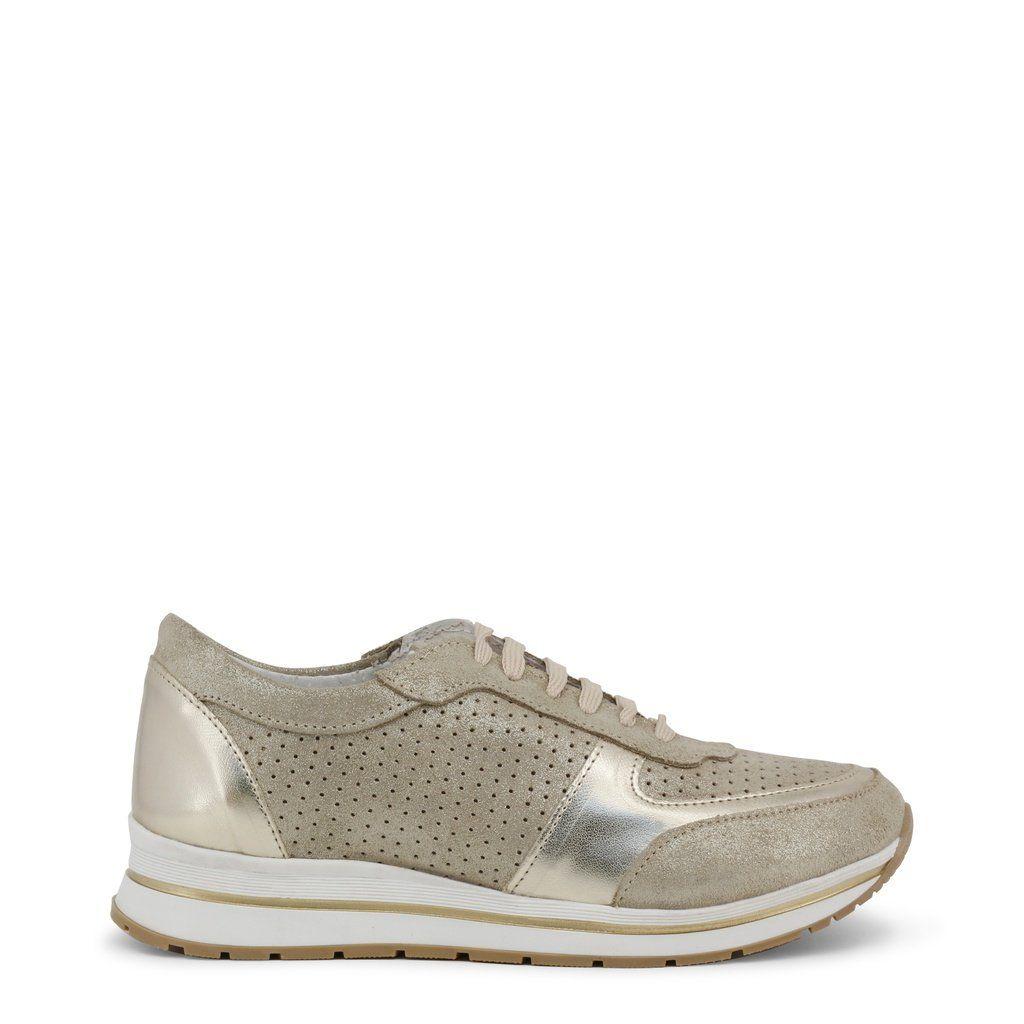Estela/_Beige ANA LUBLIN Womens Leather Sneakers