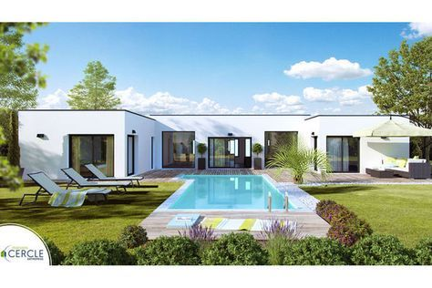 Modèle de maison Esthétia -  Retrouvez tous les types de maison à - construire sa maison 3d