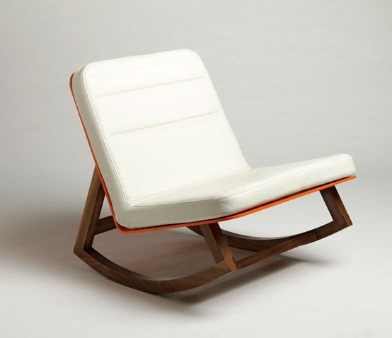 Orange Chair By Lagomorph Rocking Chair Nursery Stylish Rocking Chairs Rocking Chair