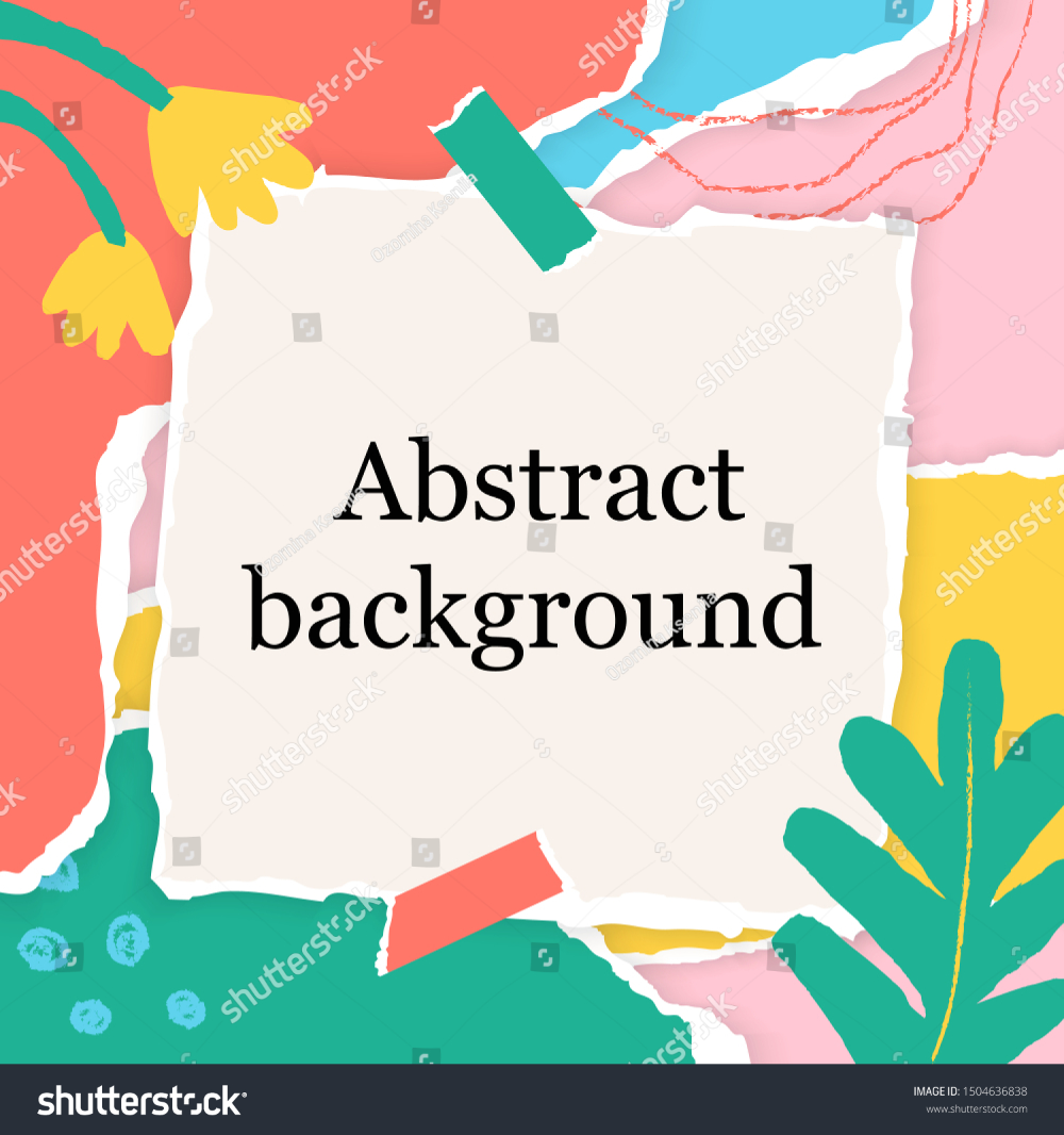 Abstract Square Background Chalk Line Torn Stock Vector Royalty Free 1504636838 Stock Vector Vector Chalk