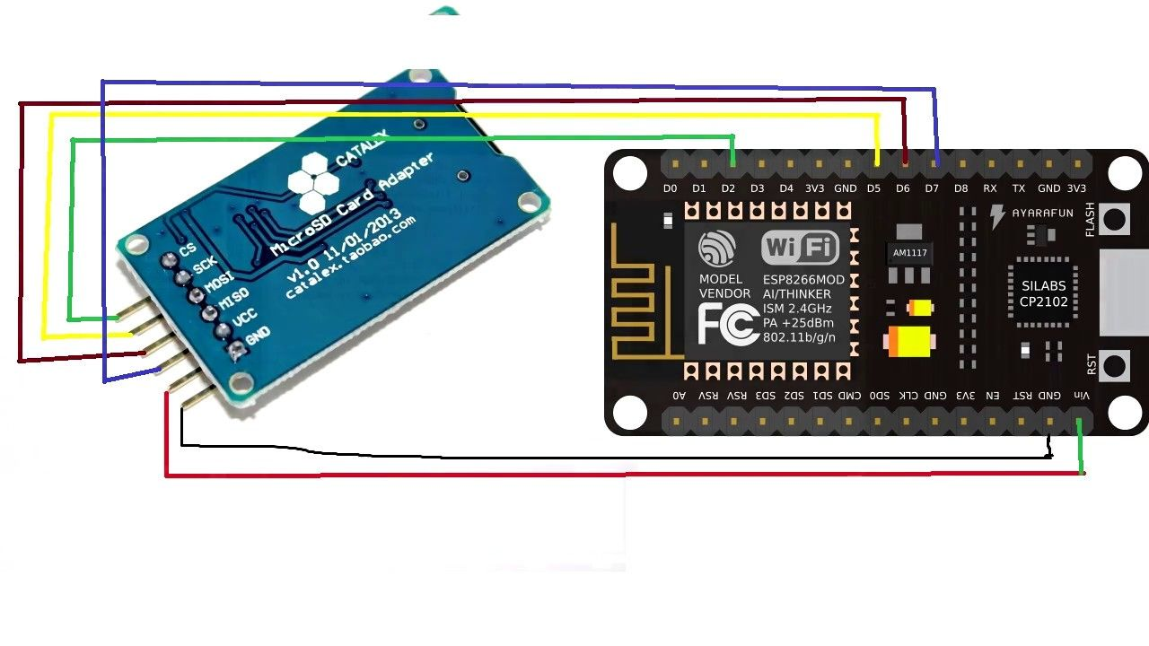 Interfacing Sdcard With Nodemcu Esp8266 Techgeek Pinterest 433mhz Receiver Circuit Copy