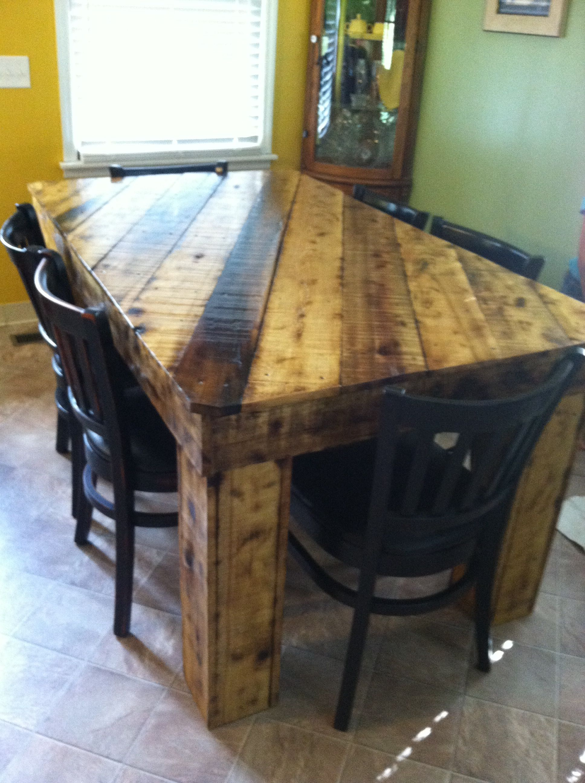 Rough Lumber Dining Table Cut Home Improvement Room