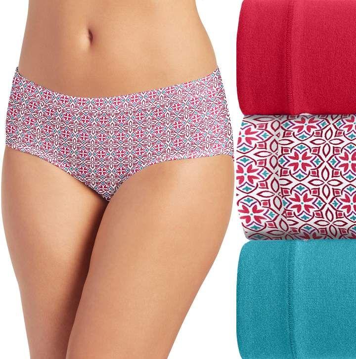 Red White Black Plaid Womens Comfort Hipster Panties Soft Bikini Panty Underwear.