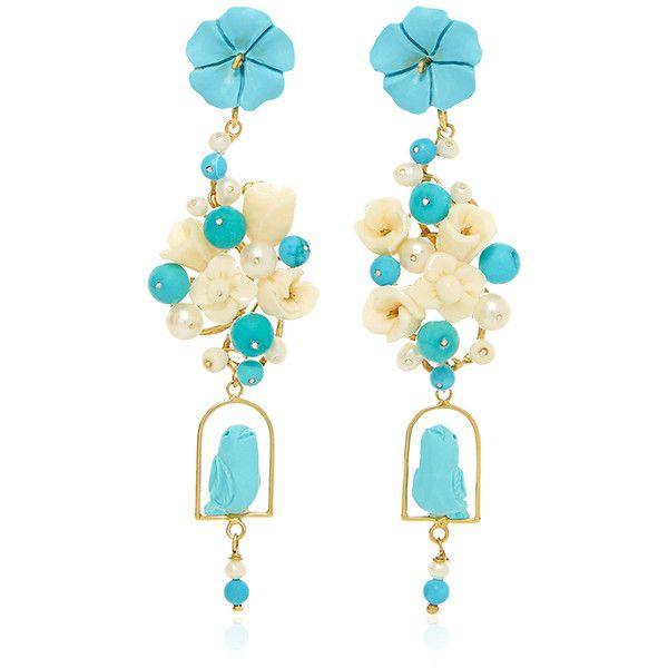 Of Rare Origin Turquoise Nesters Earring White Turquoise Jewelry Turquoise Jewelry Earrings Horn Earrings