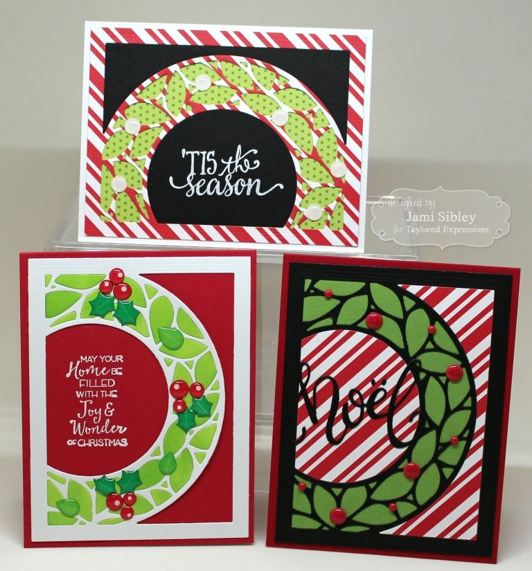 Christmas cards created by Jami Sibley with supplies from Taylored Expressions #tayloredexpressions