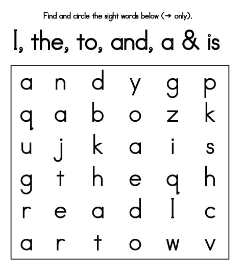 12 Printable Word Search Worksheets Word Search Pre School And
