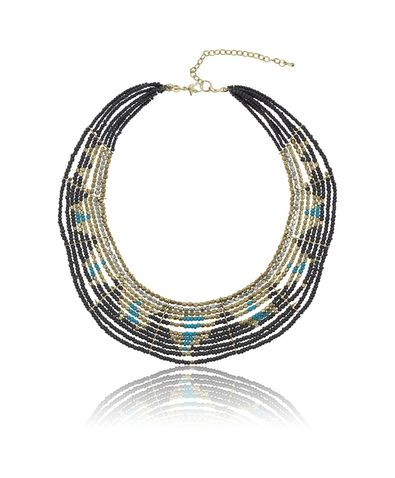 Gina Tricot - Beaded necklace Pastel multi