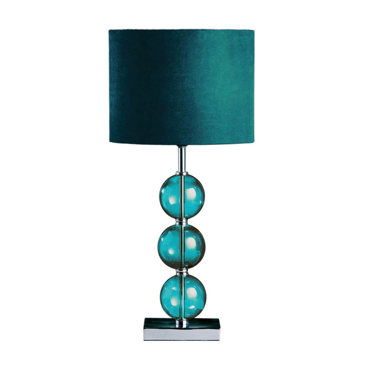 Beautiful Inspire Glass Ball Table Lamp Teal Amazon Co Uk Lighting Teal Lamp Teal Bedside Tables Teal Table Lamps
