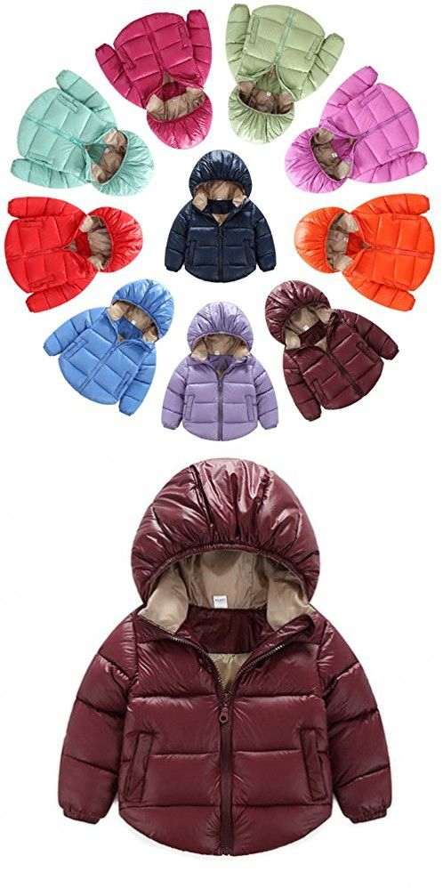 3b76aef59bee Toddler Baby Boys Girls Outerwear Hooded coats Winter Jacket Kids ...