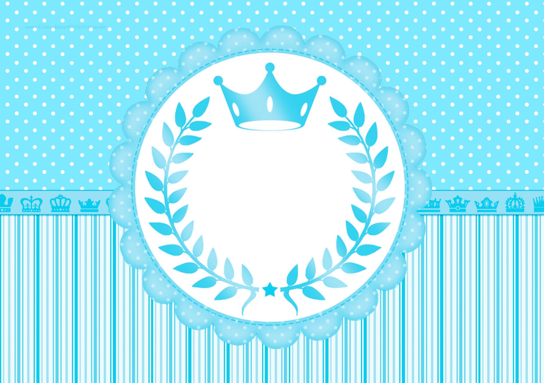Convite Festa Realeza Azul | Rahmen und Deko