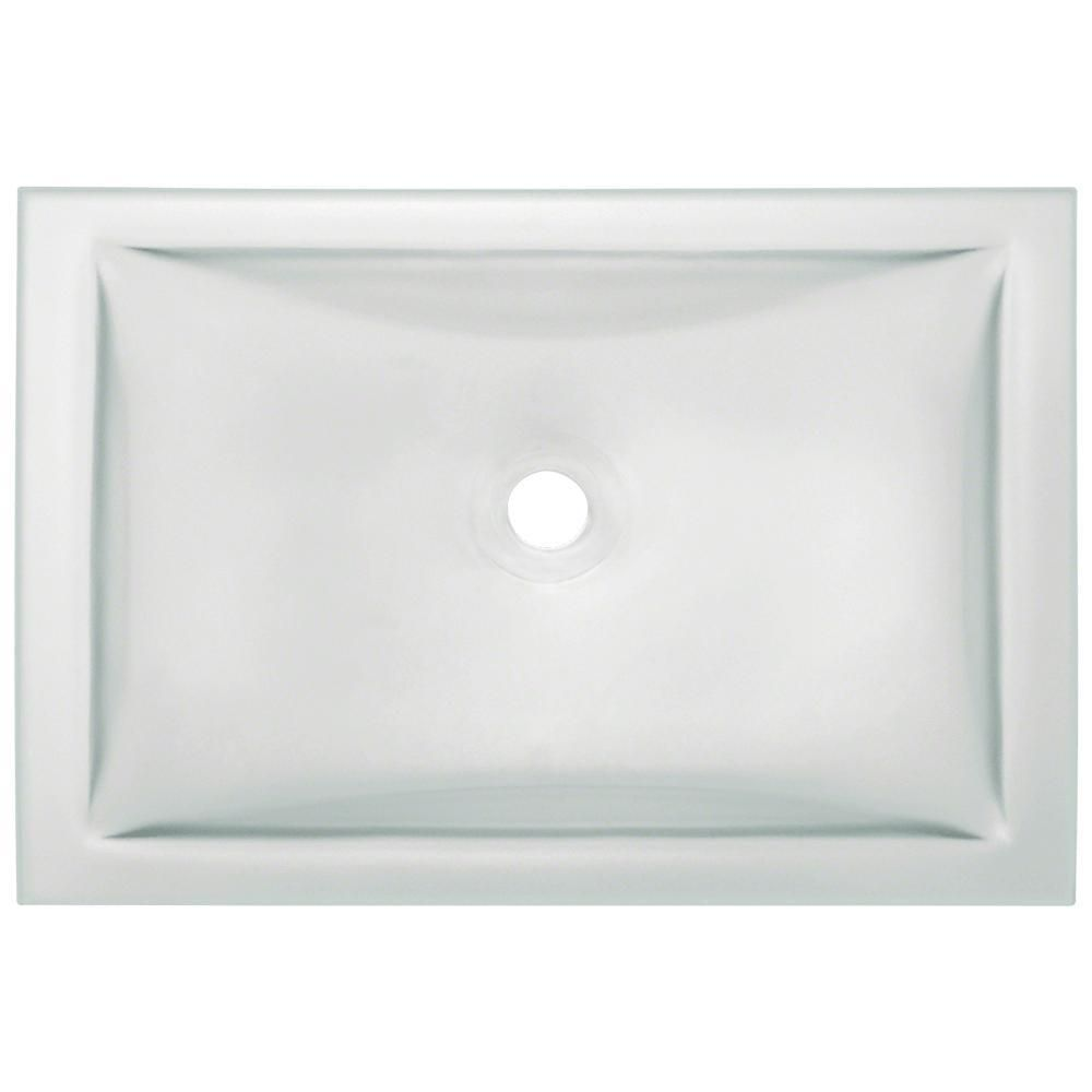 Polaris Sinks Undermount Glass Bathroom Sink In Aqua Pug3191 Aq