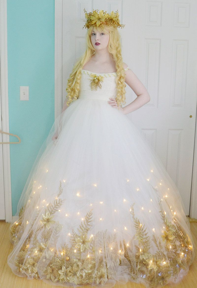 Making a christmas angel costume part two fairy dress for Diy party dress