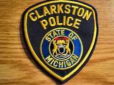 Michigan Police Patches Clarkston Police Version 2 Police Patches Police Patches