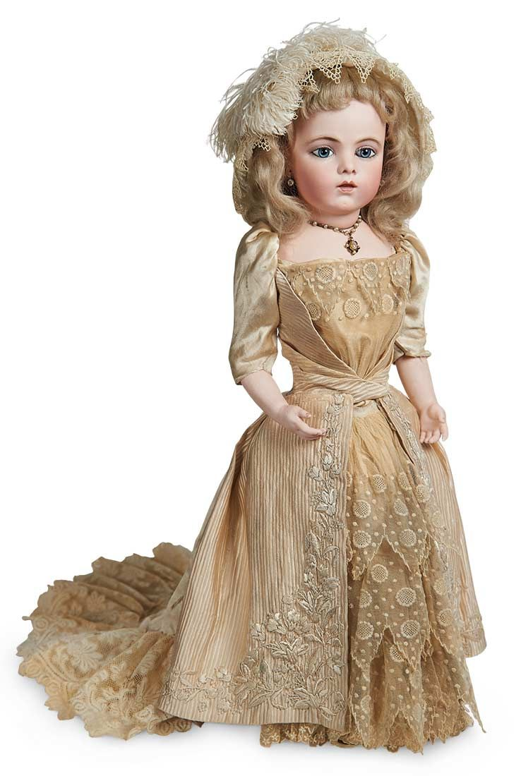 Splendid French Bisque Bebe by Leon Casimir Bru in Cotillion Gown ...