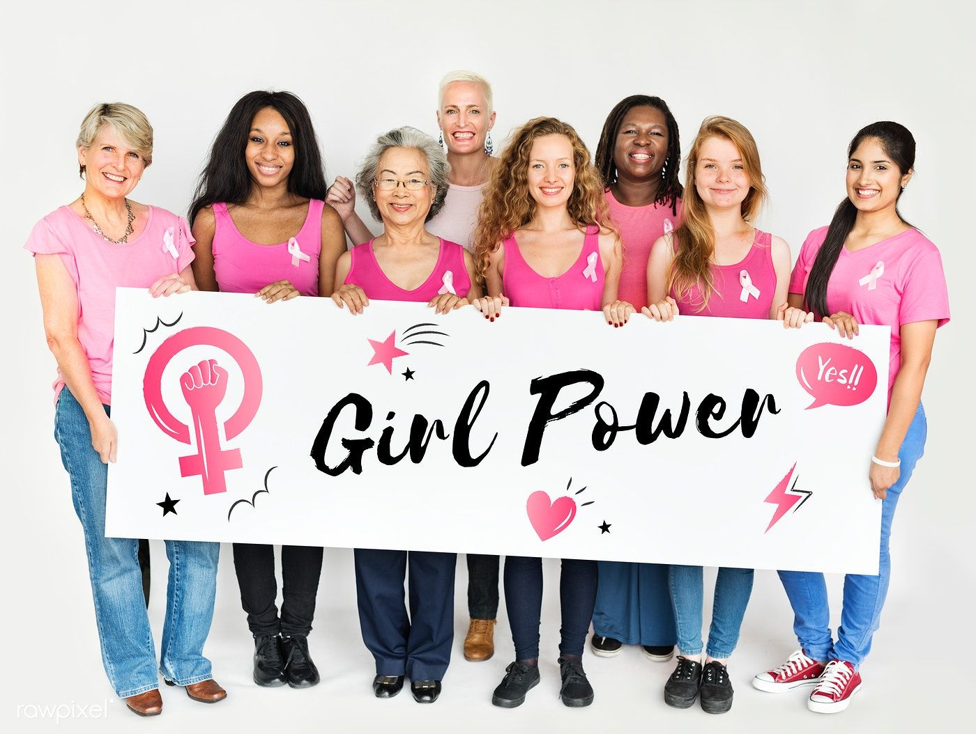 Women Girl Power Feminism Equal Opportunity Concept free