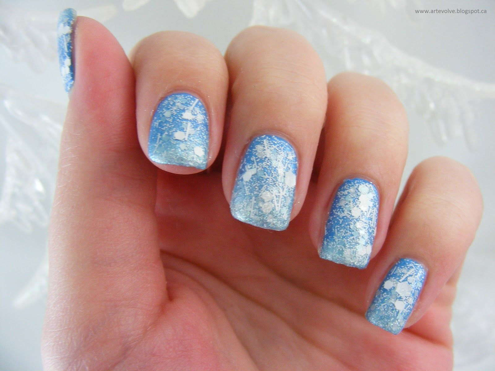 Frozen inspired nail art | gel nail designs | Pinterest