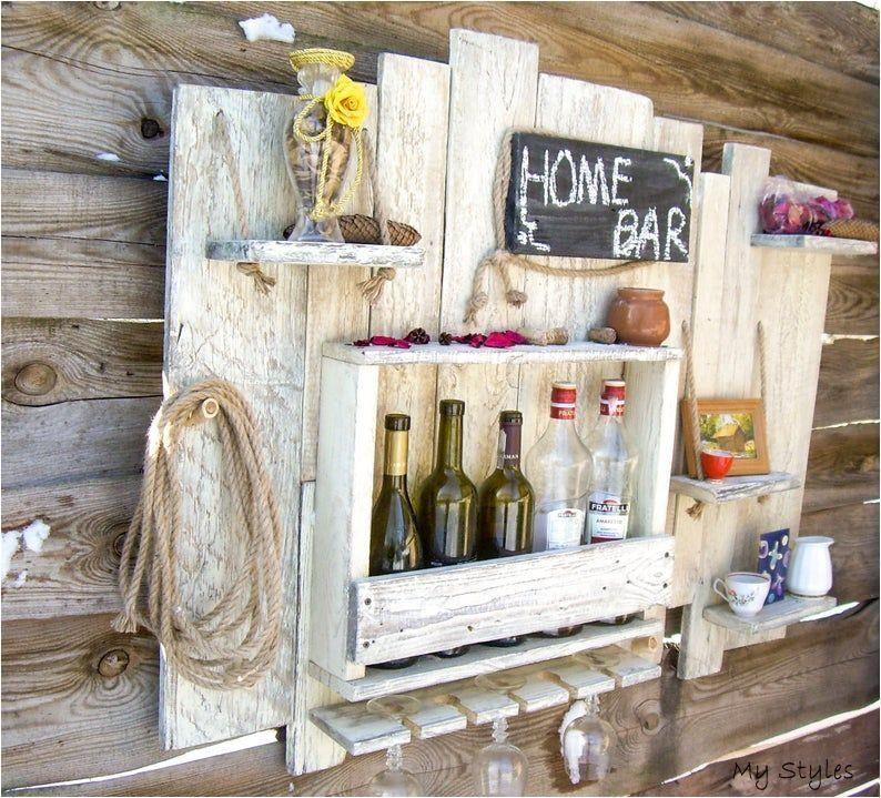 Jul 2 2020 Wine Wall Mounted Bar Wine Shelves Wine Bar Home Bar Etsy Kleiner In 2020 Hausbar Hausbarschrank Handgefertigte Mobel