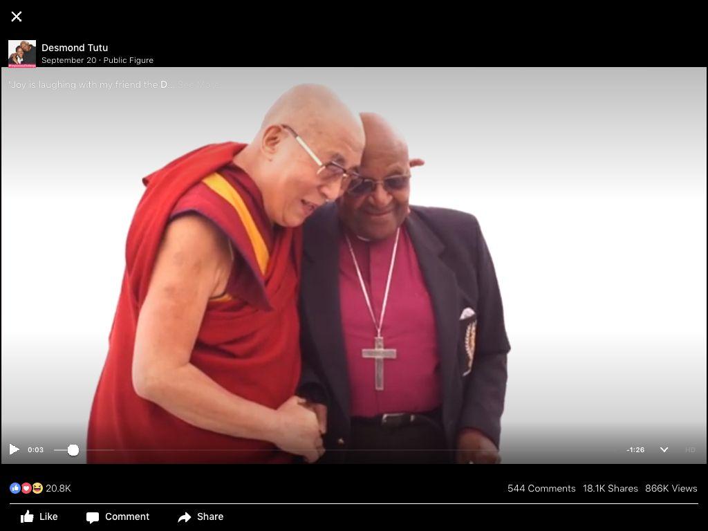 His holiness the dalai lama and desmond tutu