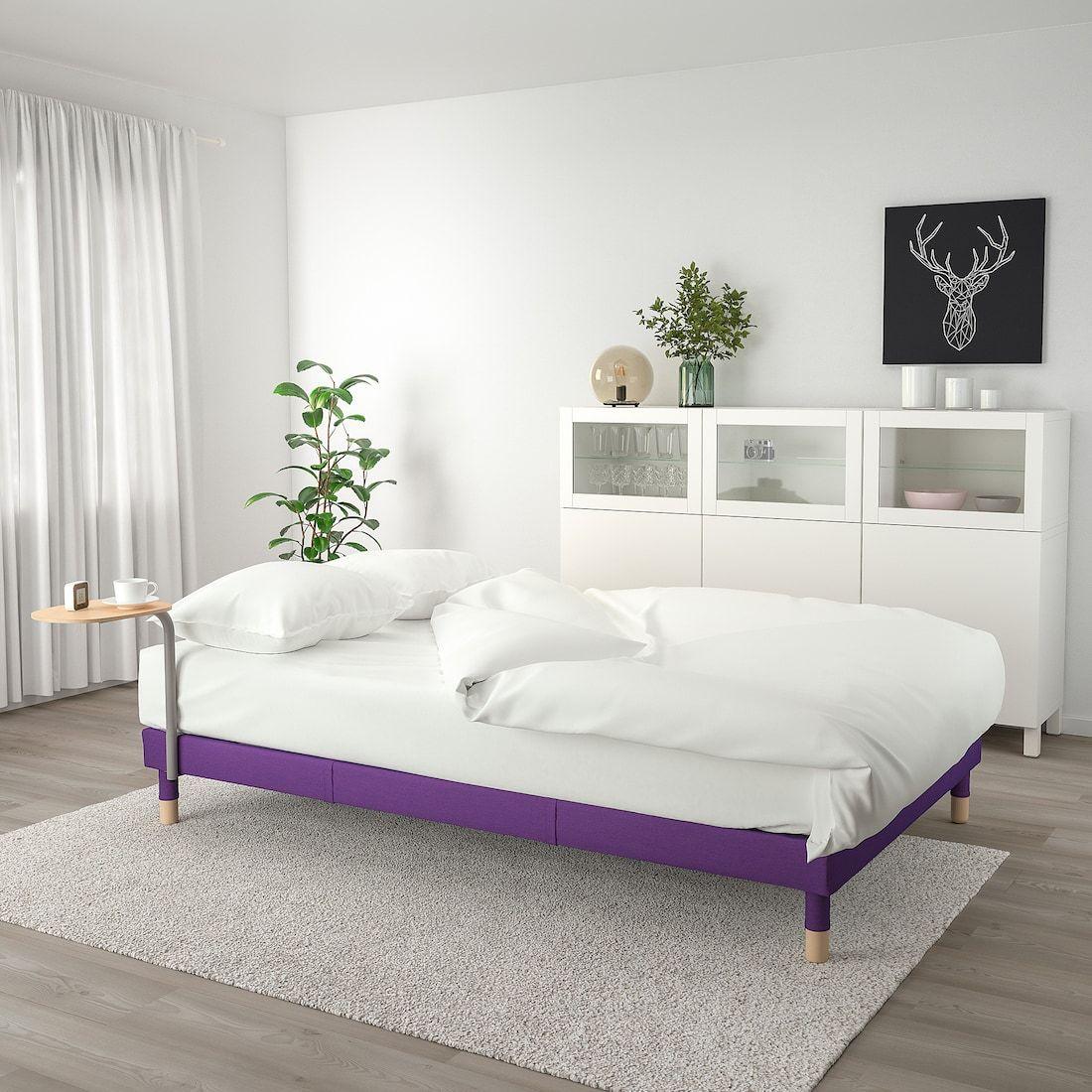 Flottebo Sleeper Sofa With Side Table Vissle Purple 47 1 4 Sofa Bed Frame Sleeper Sofa Sofa Frame