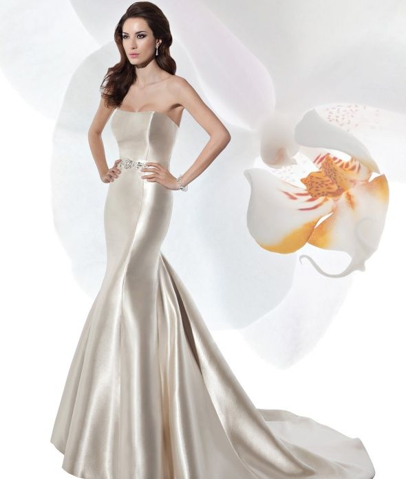 Cheap Wedding Dresses Mn: Illusions 2014. Simple Elegant Fitted Gown. With Rich