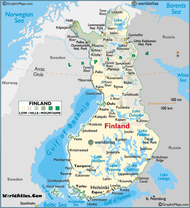 Finland large color map maps pinterest finland helsinki and finland large color map gumiabroncs Image collections