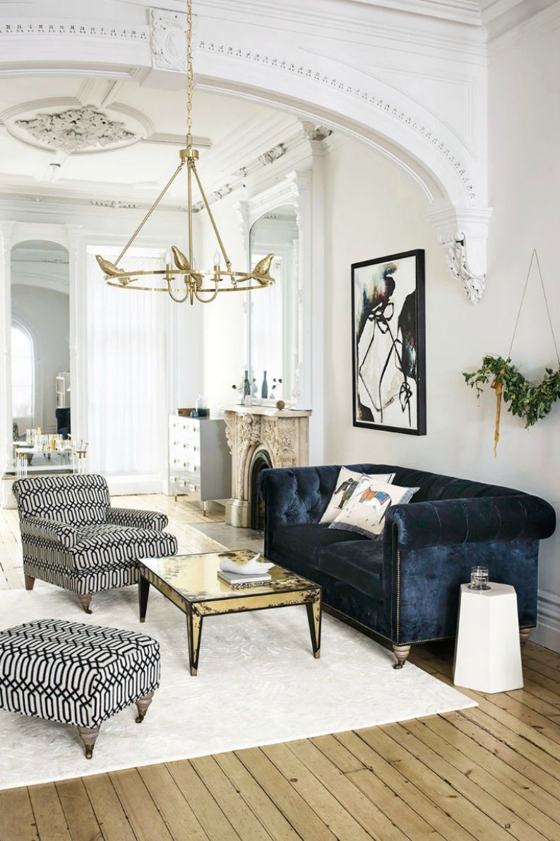 Sexy Living Rooms Room Designs With Chocolate Brown Sofa 10 Velvet Modern Sofas Setting Trends For 2017 22 A Refined Space Shabby Touches And Navy Chesterfield As Dark Touch Digsdigs