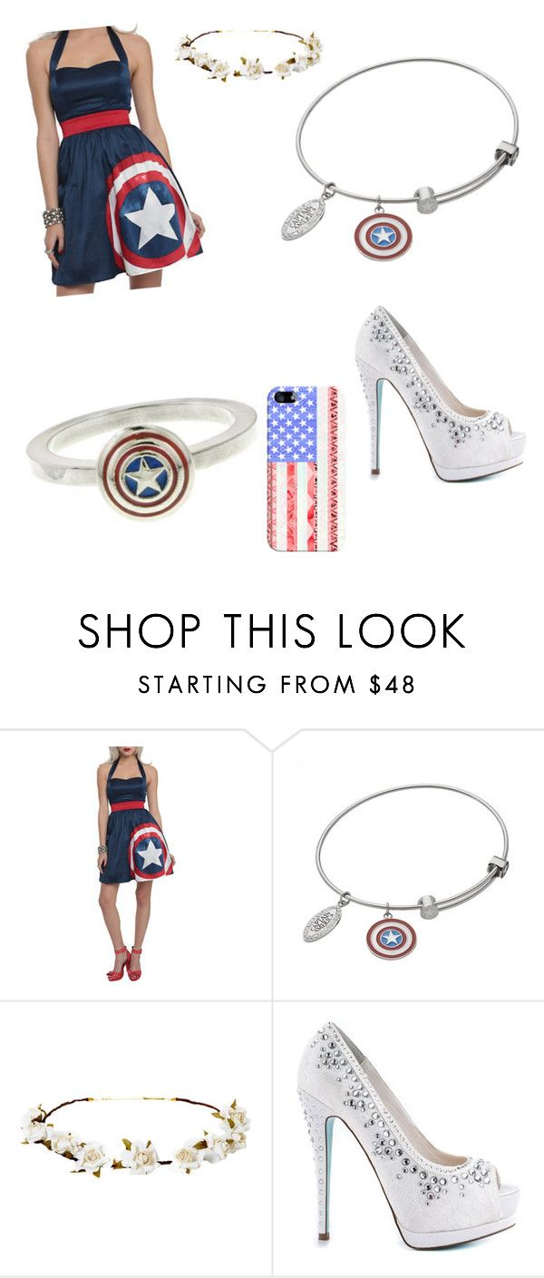 """""""Captian America prom"""" by girlinconverse ❤ liked on Polyvore featuring Marvel, Cult Gaia, Betsey Johnson and Casetify"""