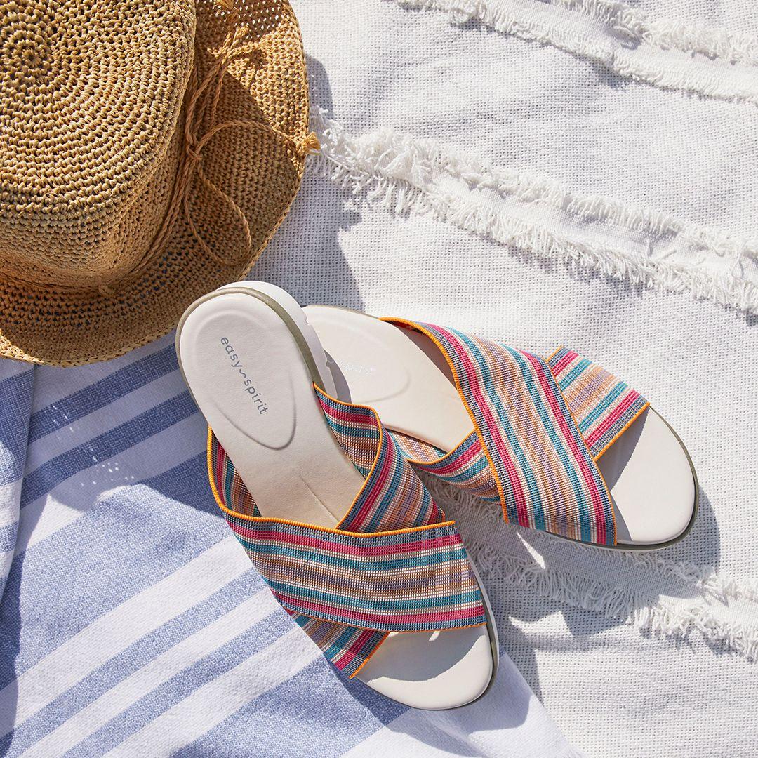 Slip on sandal, Easy spirit shoes, Sandals