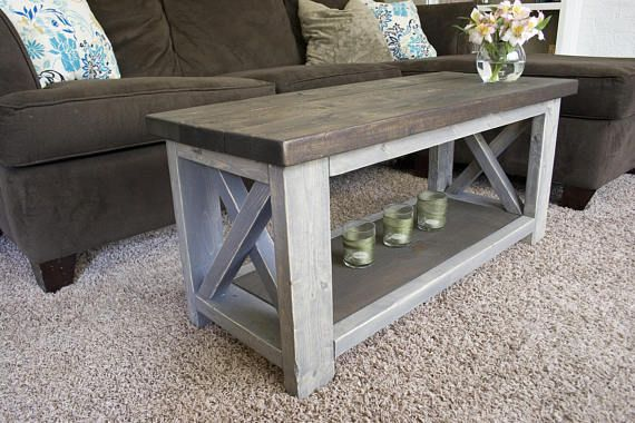 Photo of Custom Farmhouse Coffee Table  Rustic Coffee Table  | Etsy